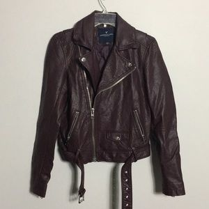 AEO • Faux Leather Motorcycle Jacket